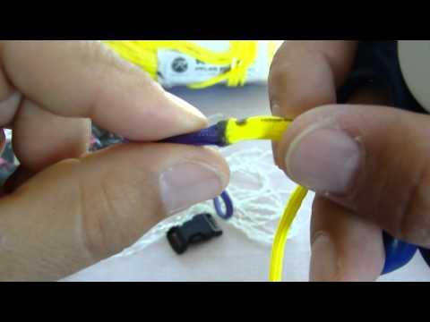 Paracord bracelet /Joining 2 colors