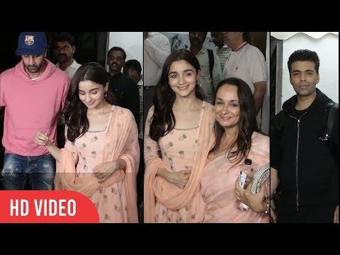 Raazi Special Screening | Alia Bhatt, Ranbir Kapoor, Karan Johar, Alia Batt Mother, Shweta Bachchan thumbnail