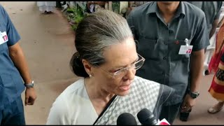 Sonia Gandhi Pay homage to Sheila Dikshit at AICC while speaking to Media | Sheila Dikshit Funeral