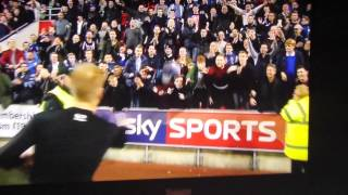 Sheffield Wednesday fans fall on their arse