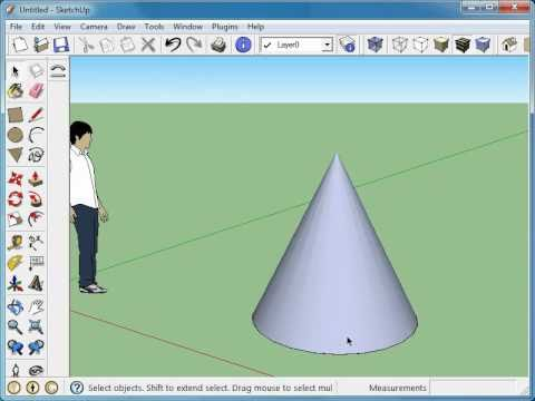 Drawing an accurate Cone in Google SketchUp 7
