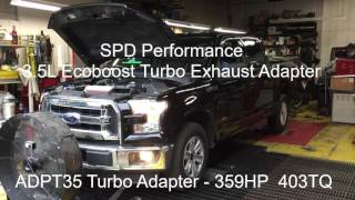 2016 F-150 3.5L Ecoboost Dyno with SPD Turbo Exhaust Adapters