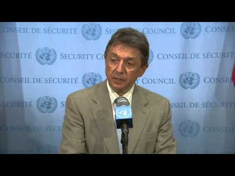 Ukraine: Yuriy Sergeyev   Security Council Media Stakeout   June 17, 2014