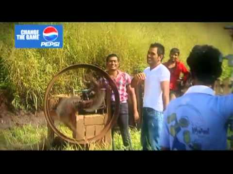 Pepsi The Making Of Dhoni's helicopter Shot video