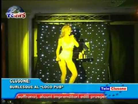 Speciale Burlesque su Tg clusone Miss Satine di Star spettacoliamo al loco pub