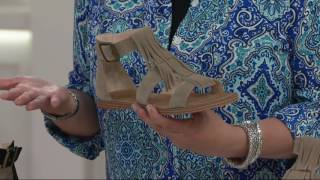 Sole Society Suede Fringe Flat Sandals - Fauna on QVC