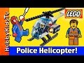 LEGO City Police Helicopter Build + Play  Emmet and Spider-Man (60008) HobbyKidsTV