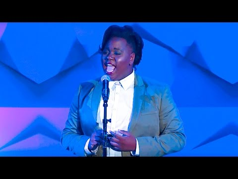 Alex Newell performs Mariah Carey's 'Hero' at the #glaadawards