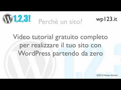 Installare WordPress con WP123 1-1 Introduzione