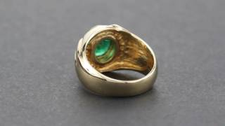 Natural 2.72ct Colombian Emerald w/ 0.31cttw Diamonds 14KT Gold