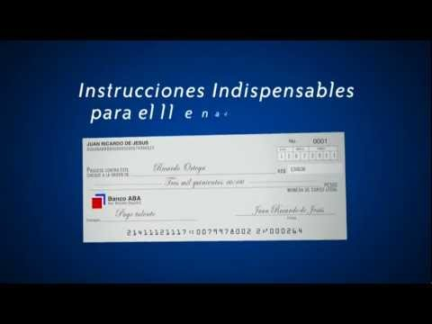 C mo llenar el nuevo formato de cheques youtube for Banco de venezuela solicitud de chequera