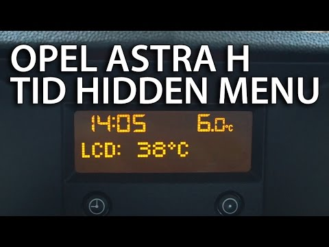 How to enter hidden service menu Opel Astra H CD30 & TID (triple information display Vauxhall)
