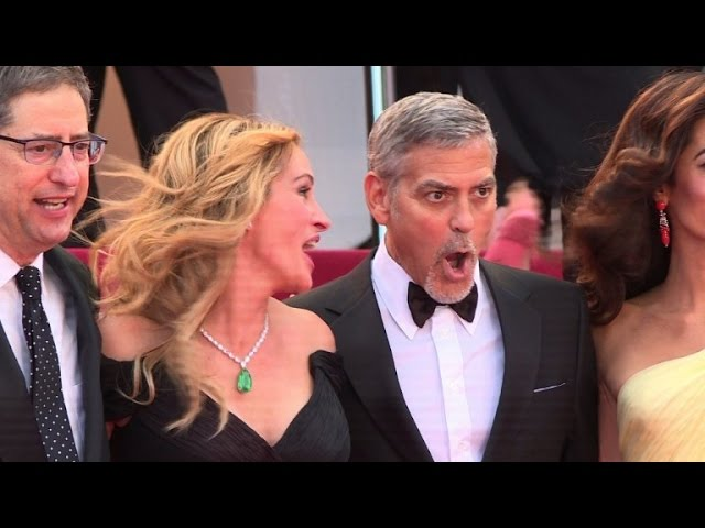 Roberts, Clooney, and Foster walk Cannes red carpet