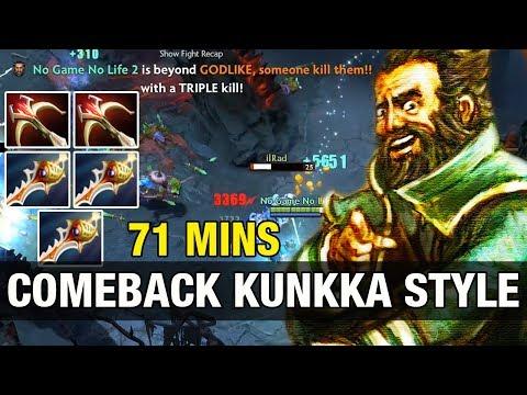 ONE HIT TRIPLE KILL - Comeback kunkka Style Subscriber Match - Dota 2