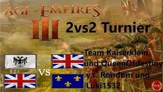 Age of Empires 3 // Team Kaiserklein vs. Team Rondom // Gruppenphase // 2vs2 Turnier [HD]
