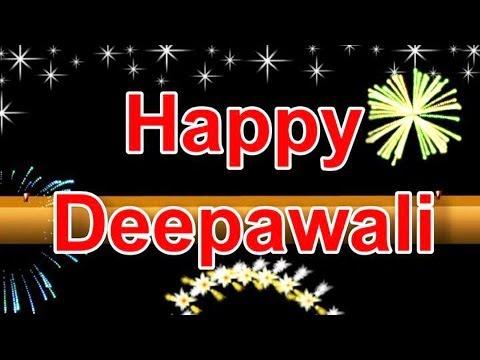 Happy Diwali Greeting ecard With Fireworks