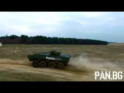 Patria AMV 8x8 demo in Kazanlak, BG