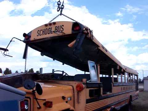 Roof of School Bus School Bus Roof Removal Mpg