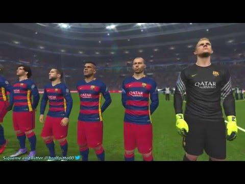PES 2016 GAMEPLAY Simulation Barcelona vs Atlético Madrid - UEFA Champions League HD  2016 |