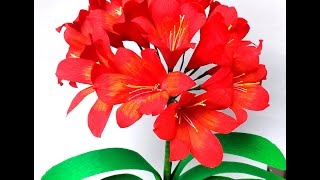 How to make Paper Flowers Clivia \ Natal Lily (flower # 103)