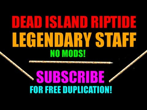 Dead Island Riptide Legendary Orange Staff   No Mods!   Best Blunt Weapon In The Game (HD)
