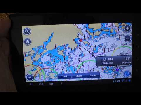 Navionics Europe and Android Tablet