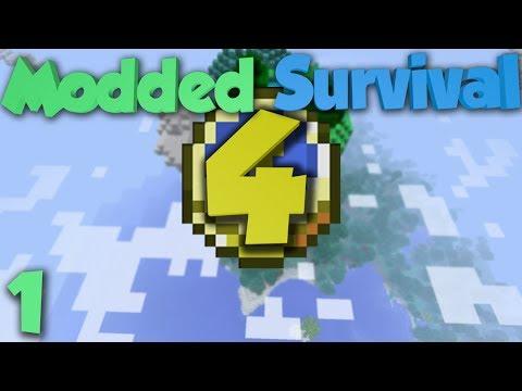 Minecraft: Modded Survival 4 Ep.1 - Love Shack 2.0