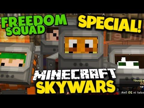 FREEDOM SQUAD SKYWARS SPECIAL! ✪ Minecraft SKYWARS