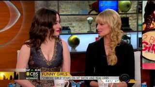 Kat Dennings & Beth Behrs - cute and funny interview - Feb 24, 2014