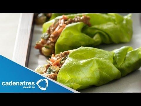 Receta Tacos de Lechuga estilo Oriental / Tacos de Lechuga estilo Oriental