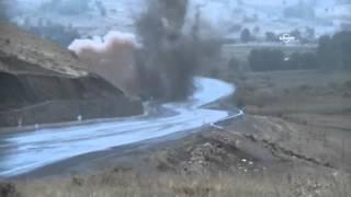 Bingöl-Erzurum kara yolunda bulunan patlayıcı böyle patlatıldı