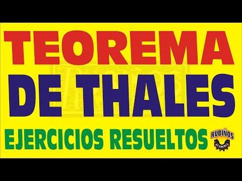 EL TEOREMA DE THALES  EJERCICIOS RESUELTOS