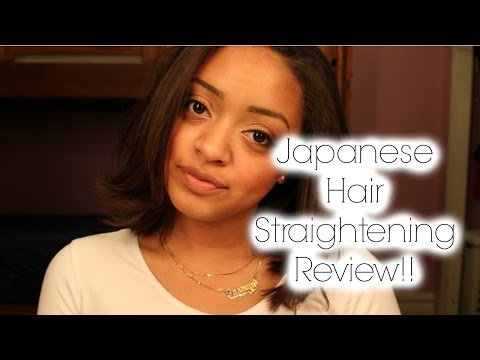 Straightening black hair with the japanese straightening for A nu u transitional salon
