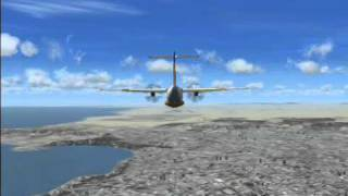 Flight ATR 72 over Baku