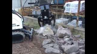 Video Demolition Robot working