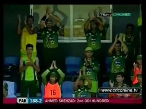 Ahmed Shehzad 102 runs vs West Indies 2nd Century in ODI 25.04.2011