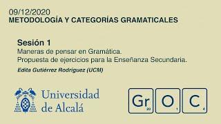 Jornadas GrOC de actualización gramatical - Sesión 1 (9 dic)