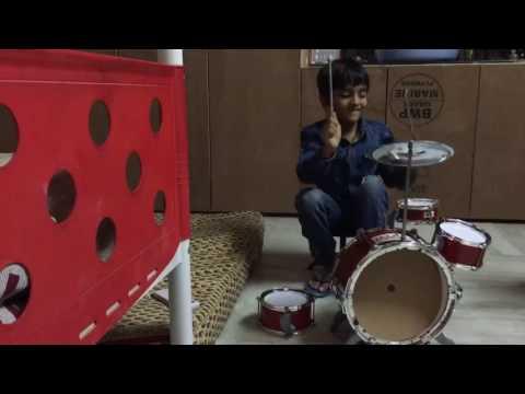 Dhee Jodi #shekar master son Vinni playing drumps thumbnail