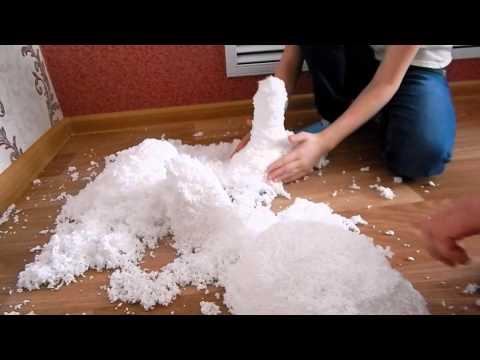 Искусственный снег в домашних условия