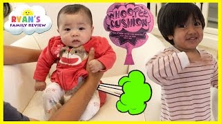 Twin Babies Fart with Kids Farting Toy Prank Whoopie Cushion! Ryan