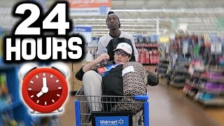 THE GREATEST 24 HOUR WALMART CHALLENGE OF ALL TIME! (KICKED OUT)