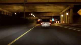 Ville Marie Expressway (Autoroute 720) westbound (Night)