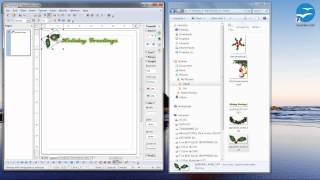How to make Holiday / Christmas stationery with Open Office 4.0.1 - step by step (Part 1)