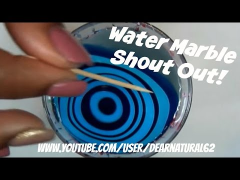 #89 TUTORIAL | Water Marble Shout Out