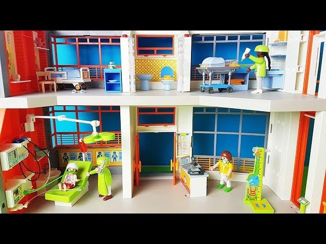 Playmobil po polsku - Szpital playmobile dla dzieci - zabawki bajki dla dzieci