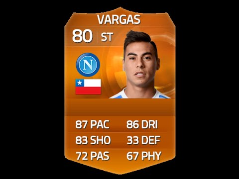 FIFA 15 MOTM VARGAS 80 Player Review & In Game Stats Ultimate Team