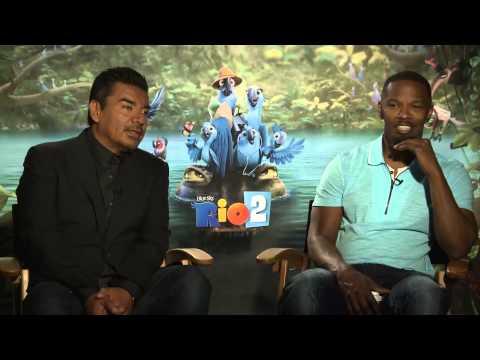 RIO 2 Interview: Jamie Foxx & George Lopez