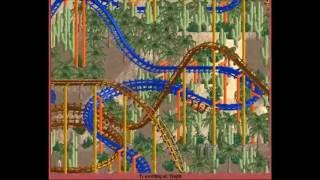 My OpenRCT2 Park - Challenger | Djinn (compact inverted coaster)