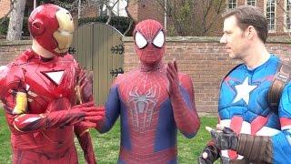 SPIDER-MAN picks a side - CAPTAIN AMERICA vs IRON MAN - Real Life Superhero Movie - TheSeanWardShow