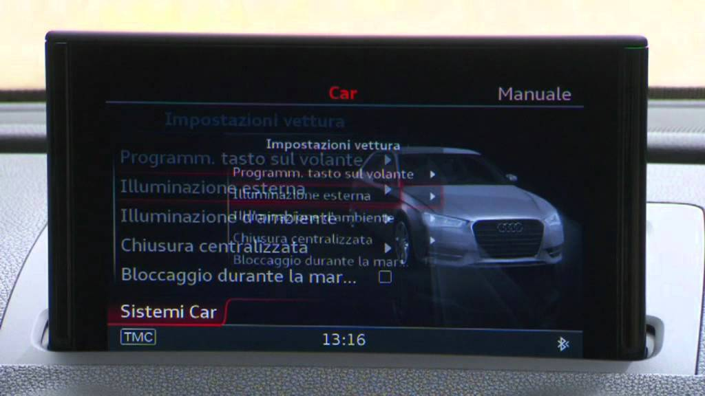 Audi A3 Mmi Display Youtube